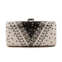 Factory Directly Wholesale V Shape Crystal Rhinestone Diamond Evening Purse Evening Clutch Boxed Evening Bag And