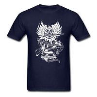 Carry On My Wayward Son   T     Shirt   Supernatural Men's Summer O Neck Team Tees Adult New Coming Big Tshirt Summer Dad Tee   Shirts