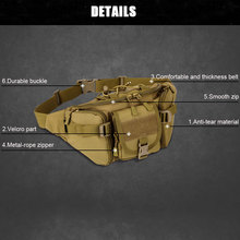 SINAIRSOFT Tactical Molle Bag Waterproof Waist Hiking Hunting Waist Bags Camping Bag Belt