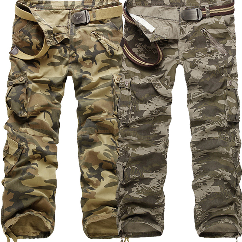 2018 Cargo Pants Men New Arrival Casual Outwear Camouflage Work Pants Male Fashion Camo Cotton Brand Clothing Work Trousers Men