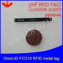 UHF RFID anti-metal tag omni-ID fit210 fit 210 915mhz 868mhz Alien Higgs3 EPCC1G2 6C durable paint smart card passive RFID tags
