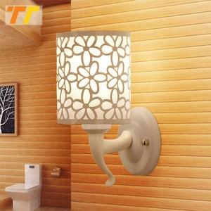 Image 5 - Lámparas de pared para interior y dormitorio, apliques de pared de estilo Simple, lámpara de cama, Luminaria creativa para escalera, sala de estar