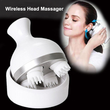 New Waterproof Head Massager Electric Vibrating Wireless Scalp Massager Prevent Hair Loss Body Deep Tissue Kneading Health Care
