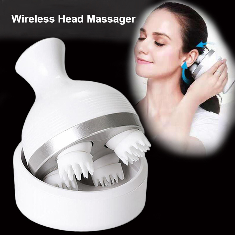 Waterproof Electric Head Massage Wireless Scalp Massager Prevent Hair Loss Body Deep Tissue Kneading Vibrating Health Care New