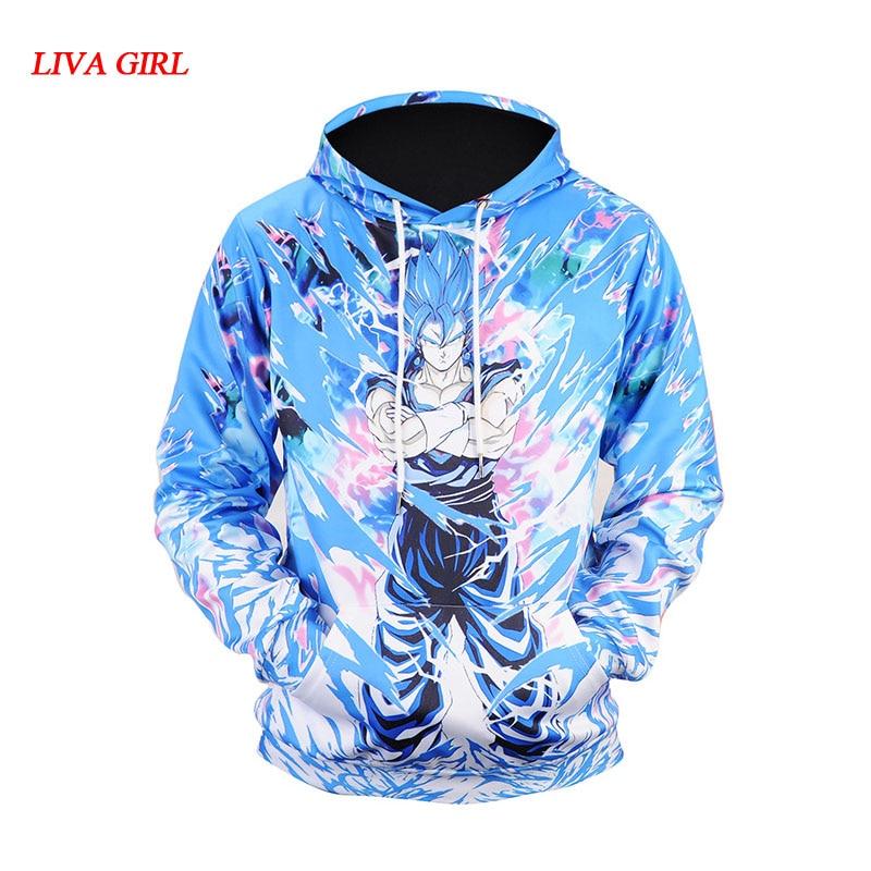 Naruto Dragon Ball Z Hoodies 3D Print Pullover Sportswear Sweatshirt Dragonball Super Saiyan Son Goku Vegeta Vegetto Outfit Tops