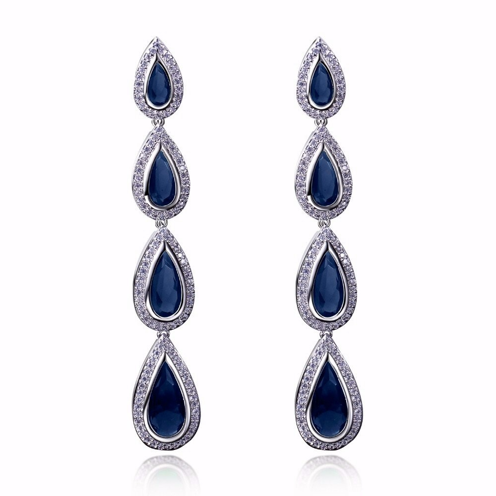 Free shipping Evening long Bridal earrings teardrop