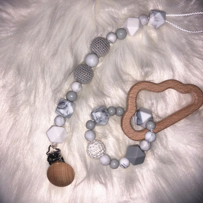 Купить с кэшбэком Chenkai 100pcs 9mm 12mm 15mm Silicone Teether Beads DIY Baby Teething Pacifier Dummy Montessori Sensory Jewelry Making Toy Beads