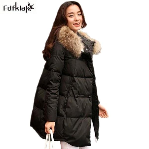 Veste d'hiver femmes 2018 nouveau manteau d'hiver épaississement chaud femelle vers le bas veste à capuchon long parkas de femmes vers le bas manteaux A298