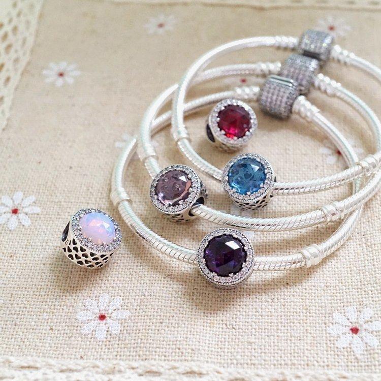 17a143890 ... uk 925 sterling silver pandora crystal radiant hearts charms opal  droplet beads fit original bracelets necklace