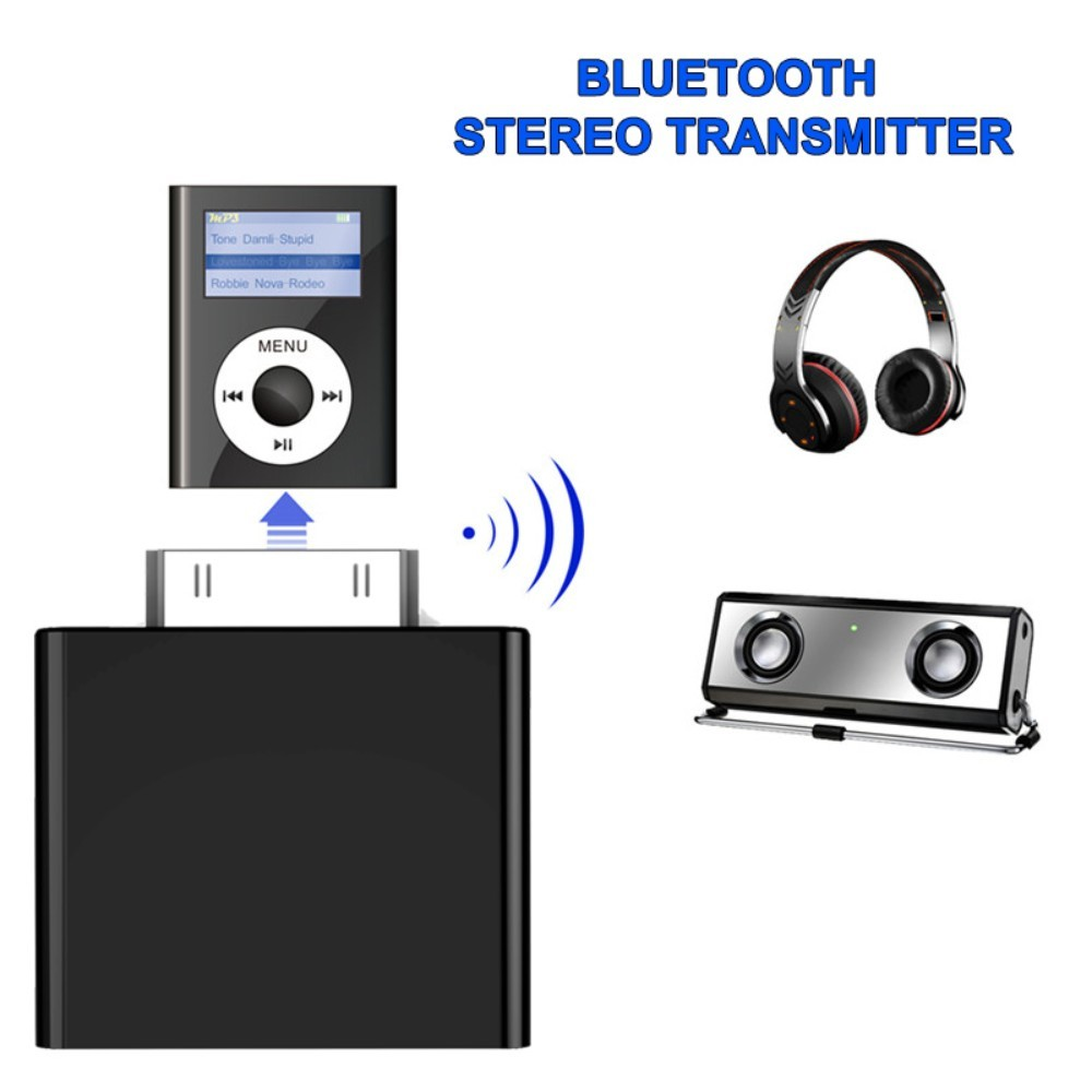 Image 5 - Bluetooth audio transmitter black 30pin Bluetooth transmitter Stereo Adapter For iPod Ser uy-in Wireless Adapter from Consumer Electronics