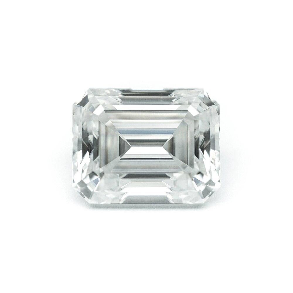 Émeraude Baguette Cut Brillant 5x7mm 1.2ctw DF Couleur Moissanite Lâche Pierre VVS Excellente Cut Grade Test Positif laboratoire Diamant