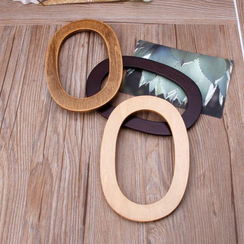 Wooden Handles Handbag Hanger Replacement For Bag Handbags Purse Shopping Tote DIY Purse Bag Accessories