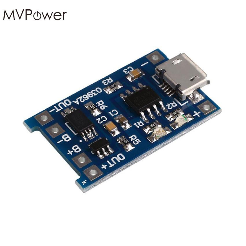 MVpower Useful 5V 1A Micro USB Battery Charging Protection Board Charger Module for 18650 Lithium Rechargeable Li-Ion Battery
