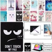 """Caso Folio para Samsung Galaxy Tab 10.1 2019 SM-T510 SM-T515 T510 T515 Funda Dos Desenhos Animados Inteligente Tab DE 10.1 """"2019 Tablet Caso Funda"""