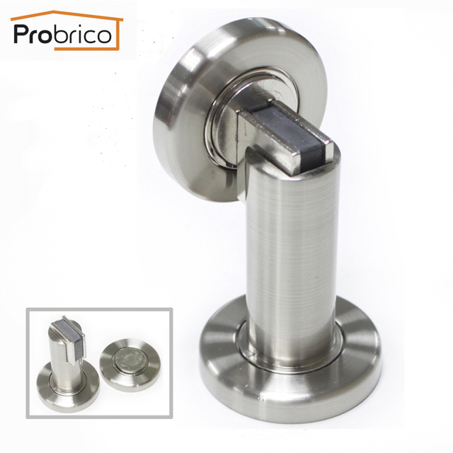 Delicieux Probrico Door Stop Heavy Duty Satin Nickel DSHH101SN Metal Wall Mounted Door  Holder Floor