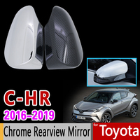 for Toyota C HR Chrome Trim Set Chrome Rearview Mirror Cover 2Pcs High Quality Car Accessories Stickers CHR C 2017 2018 2019