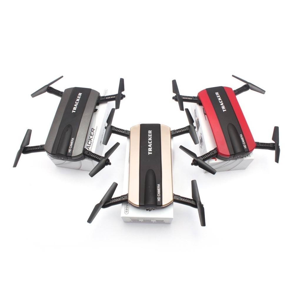 Foldable Ultra Compact Flying Selfie Drone Remote Control Small Helicopter With 0.3MP HD WiFi Camera JXD523