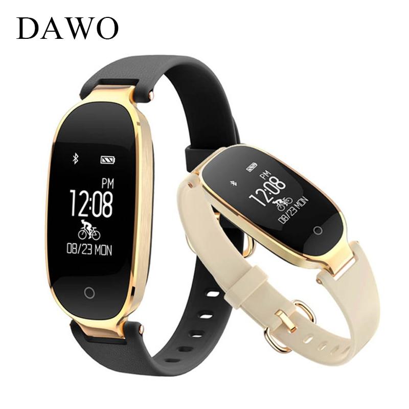 DAWO Fitness Tracker Smart Bracelet Wearable Devices Women Heart Rate Monitor IP67 Waterproof Bluetooth Wristband PK