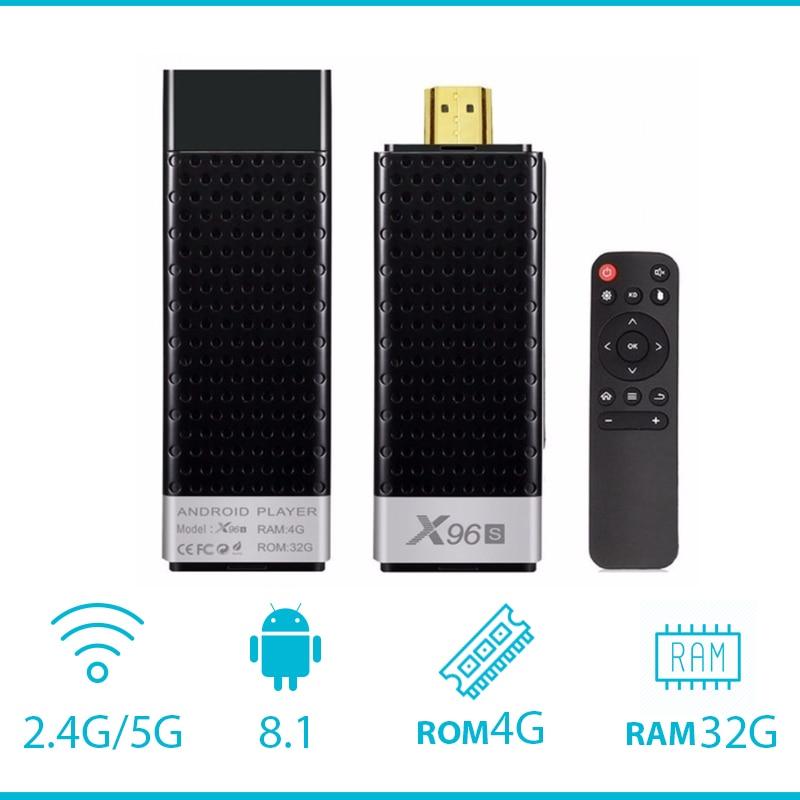 X96S Amlogic S905Y2 DDR4 4 GB 32 GB X96 Mini PC TV Stick 5G WiFi Bluetooth 4.2 TV Dongle lecteur multimédia