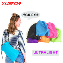 Brand YUETOR 28 wholesale ultralight laybag hangout inflatable air beach sofa lazy bag 6 colors sleeping air bag