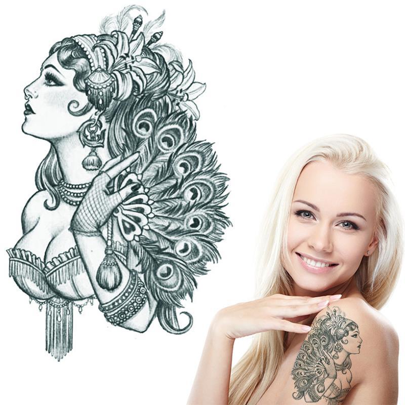 Womens Temporary Tattoos: Aliexpress.com : Buy Noble Feminine Tattoos Water Transfer