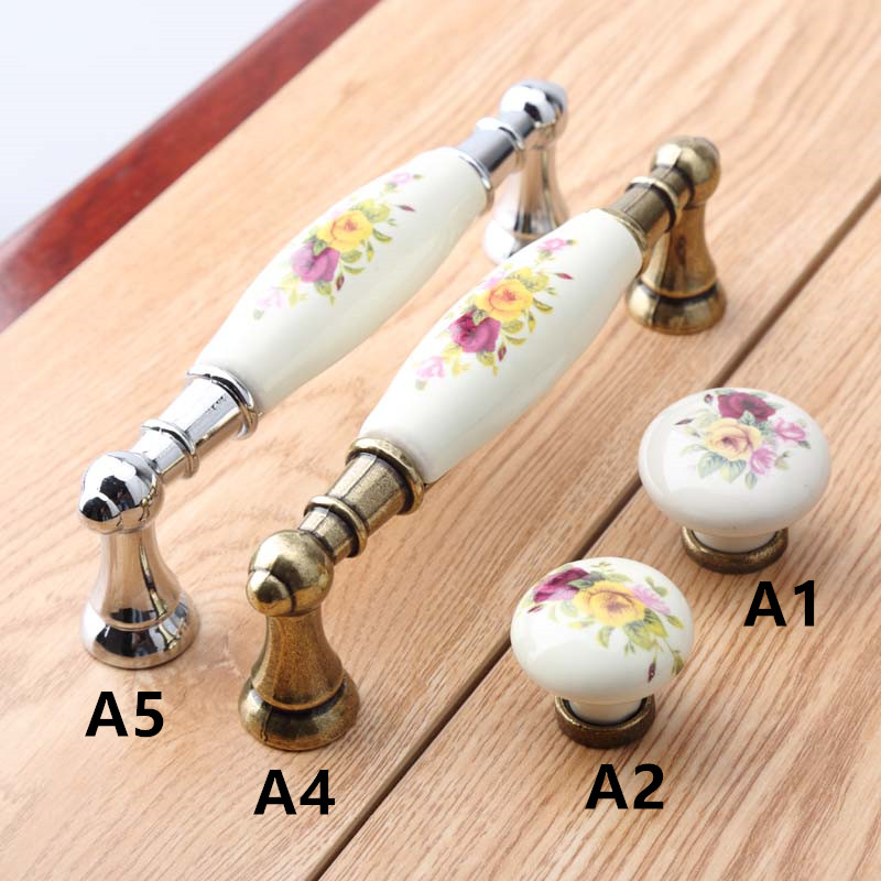 96mm 5 modern fashion rural ceramic furniture handle bronze dresser door handle silver chrome kitchen cabinet drawer pull knob 96mm antique brass kitchen cabinet handle rustico pastorale ceramic drawer knob bronze dresser cupboard furniture door handle