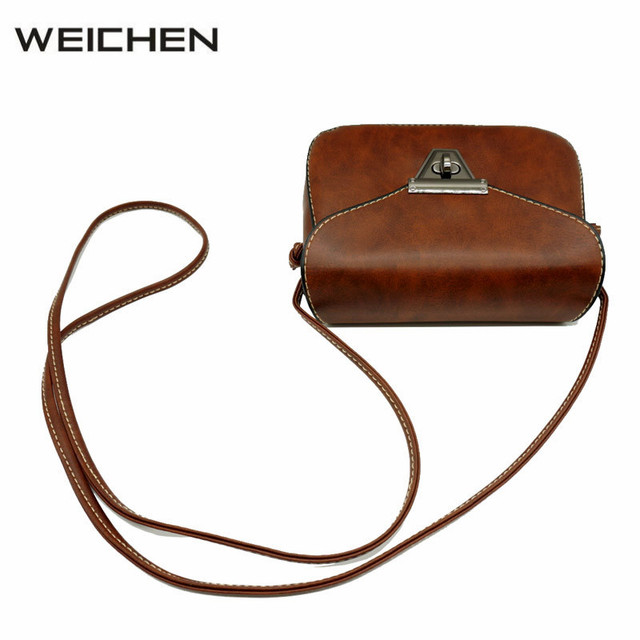 81465482b6 Women Messenger Bags Leather Vintage Brown Small Shoulder Bag Female  Crossbody Sling Bag 2018 Casual Flap Ladies Cross Body Bags