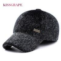 2017 New Winter Warm Men S Baseball Caps With Ear Flaps Male Faux Fur Caps Hats