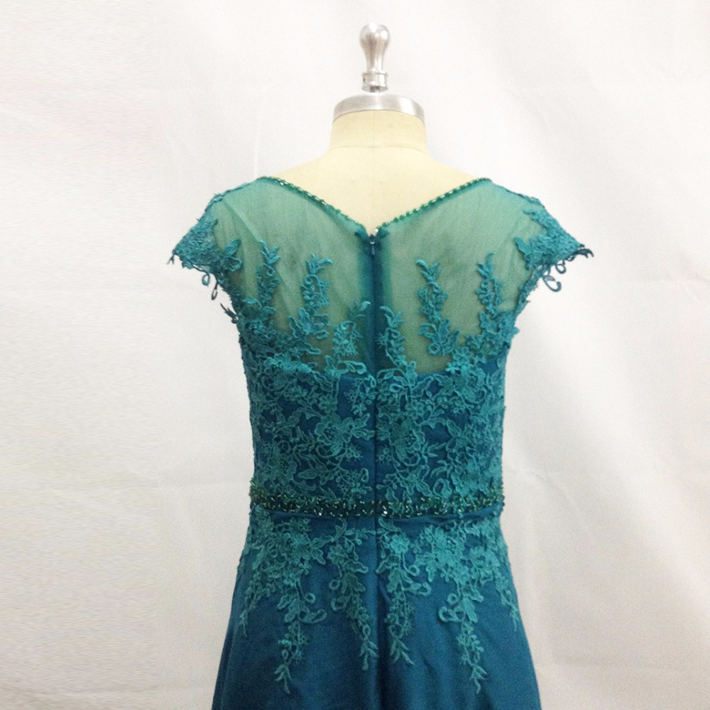Turquoise Plus Size Mother of the Bride Lace Dresses Cap Sleeve Bead ...