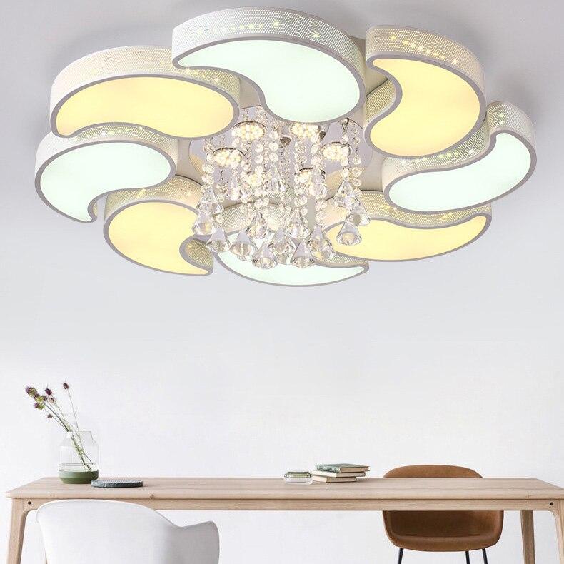 Plafonnier en cristal Chandelier Moderne Encastré LED Lumières Plafonnier pour Salle À Manger, Salon Creative Cristal Lampe