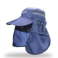 Marca ampla sol borda Verão Respirável Proteção UV Viseiras chapéu de balde  pescador cap pesca Protetor da105dcfe07