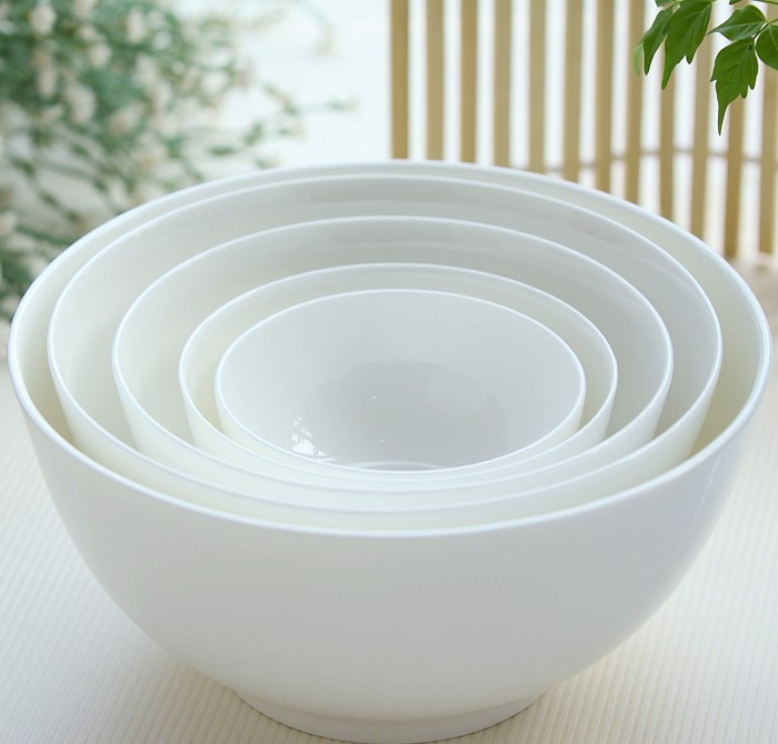 4 5 Inch Plain White Bone China Bowl For Fruit And Instant Noodle Ceramic Thermos