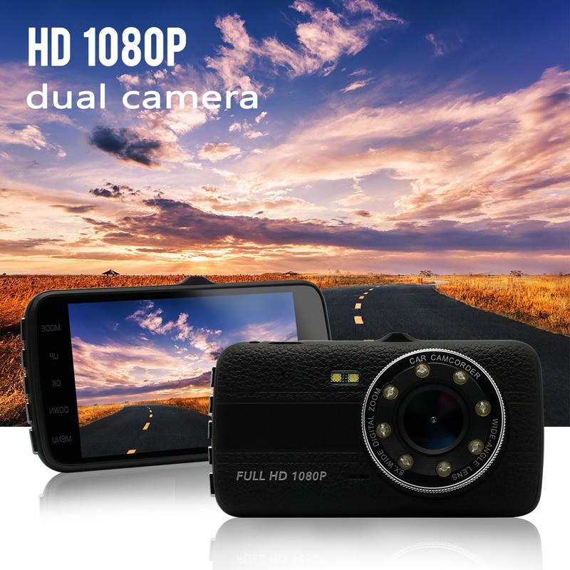 2017 Original 4.0 Inch IPS Screen 8LED lights Car DVR camera dual lens rearview Camera Dash Camera Full HD 1080P Video Dash Cam