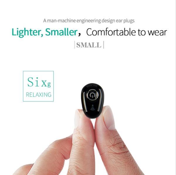 Мини S650 Беспроводной Bluetooth наушники вкладыши Спорт Музыка наушники гарнитура наушники с микрофоном для iOS/Android телефоны