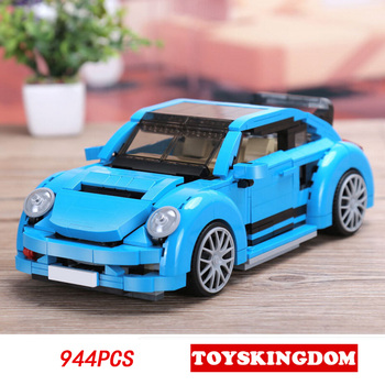 Technics dream car 1:13 scale das Beetle auto moc building block model bricks toys collection for children gifts