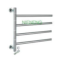 Rotatable Stainless Steel Electric Wall Mounted Towel Dryer Warmer And Towel Racks 580X100X500mm Power 50W Voltage