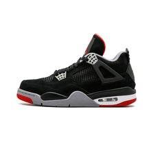 a8192af52e8 KFJ aire nos JORDAN 4 Retro hombres zapatos de baloncesto criado cemento  blanco oreo el Día de los solteros tatuaje gato negro d.