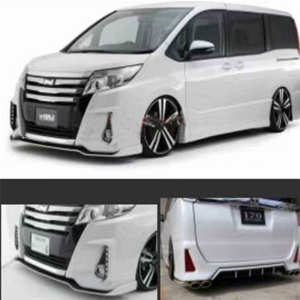for toyota noah s srj body kit front and rear lip with led-in