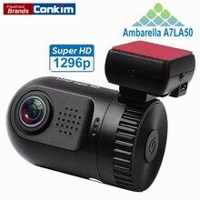 Автомобильный видеорегистратор Ambarella A7LA50 мини 0805 Full HD 2304*1296 P 30fps Авто Даш Камера LDWS HDR g датчик H.264 цифровой видеомагнитофон