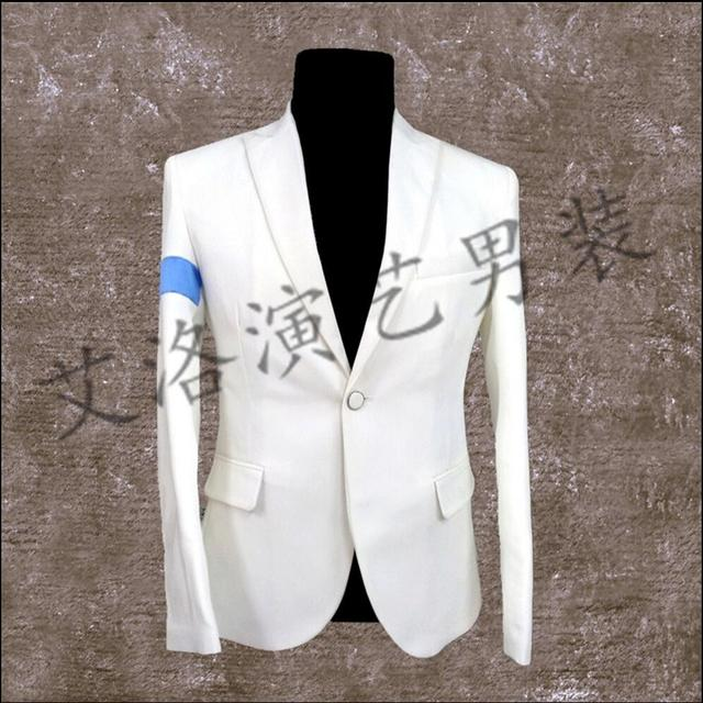 XS-4XL New Men white suits nightclubs dancers DS stage performance clothing Wedding Slim Fit Men Blazer Stage singer costumes