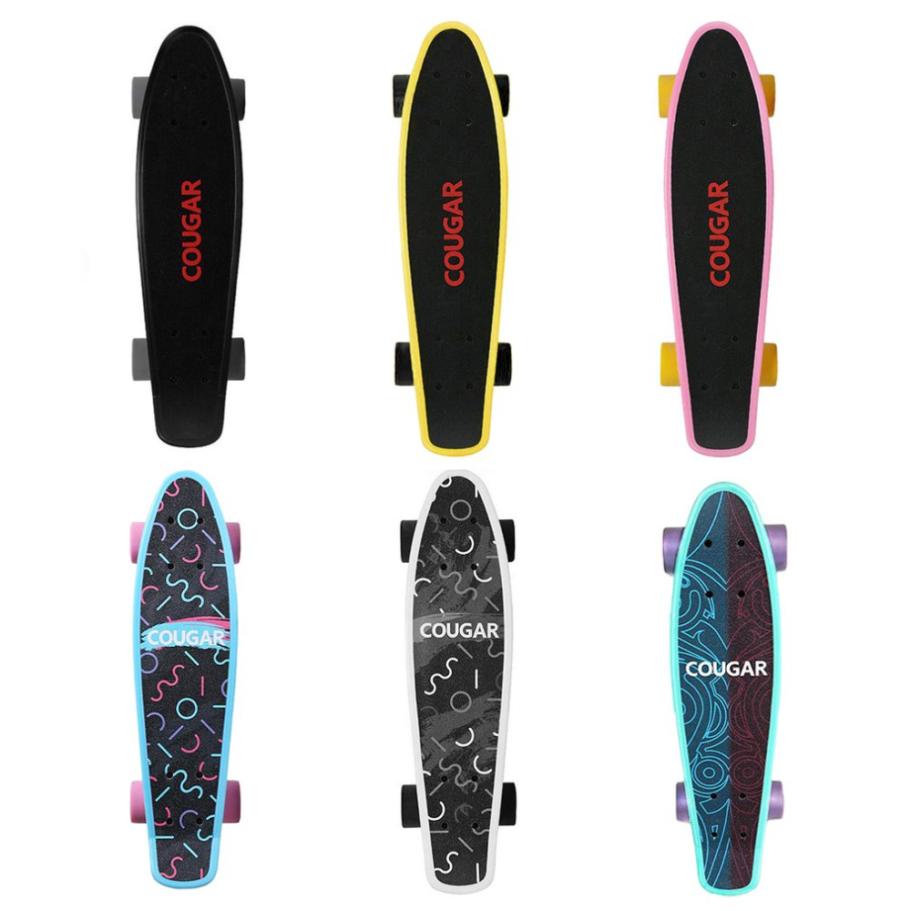 Arch Design Four wheeled Skateboard Plastic Long Board Freestyle Skateboard Skate Deck
