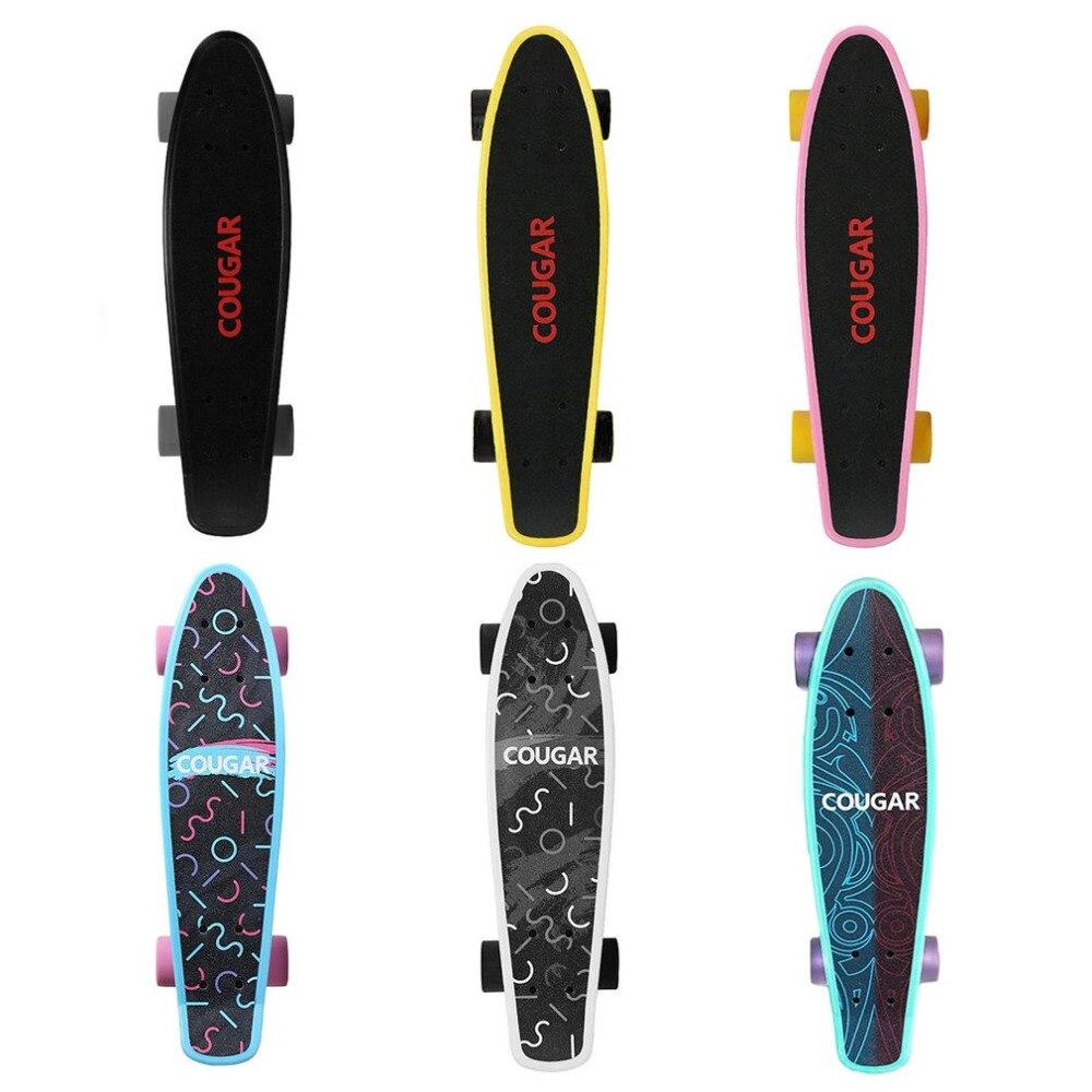 Planche à roulettes à quatre roues en plastique planche à roulettes longue planche à roulettes Freestyle planche à roulettes
