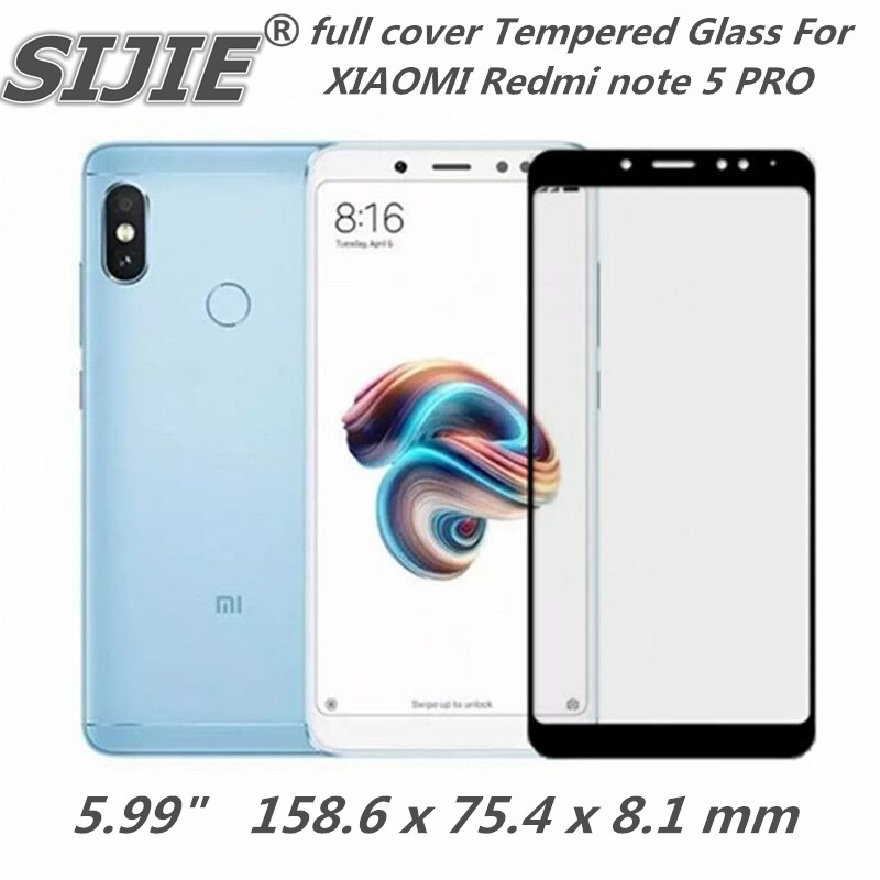full cover Tempered Glass For XIAOMI Redmi note 5 PRO note5 prime global 6X 5.99 inch Screen protective smartphone on toughened