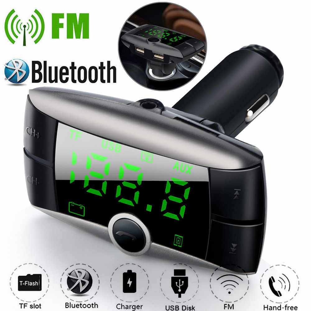 Car Mp3 Player 87.5-108MHz FM Wireless Bluetooth FM Transmitter Modulator Car Kit MP3 Player Dual USB Charger 3