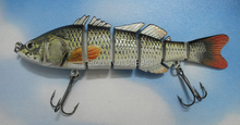 Multi-jointed Bass Pike Trout Fishing Lure 3D Eyes Swimbait Crankbait Hard Bait 153mm 40g Fishing Tackle