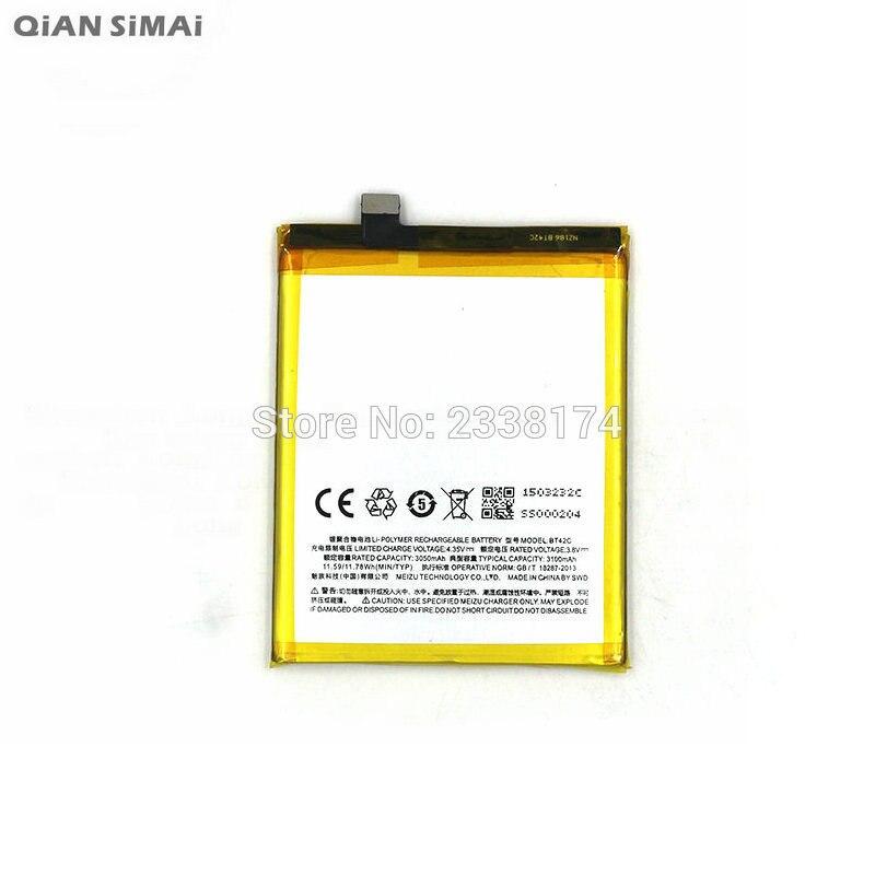 Цянь Симаи 1 шт. 100% Высокое качество BT42C 3100 мАч Батарея для <font><b>Meizu</b></font> M2Note <font><b>M2</b></font> Примечание мобильного телефона Бесплатная доставка + код отслеживания