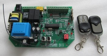 AC sliding gate opener control board with 2pcs remote control,learning code