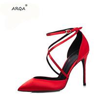 ARQA 2019 Newest Summer Sexy Women Party Sandals Open toe High heels Solid Ladies Shoes Fashion Women Sandals Footwear(China)