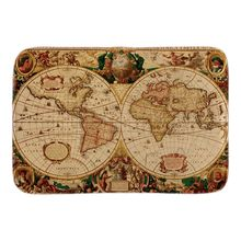 Home Decor Doormats With World Map Colonial Town Soft Lightness font b Indoor b font Outdoor