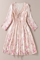 European American Style Long Dress 2017 Summer Women Vintage Bohemian Print Long Sleeve Beach Long Maxi